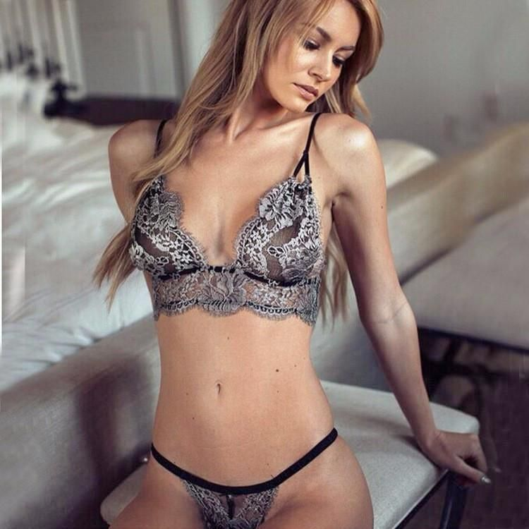 67bd4de01f ... Lace Bra And Panty Set Underwear. Laura Bailey teamed a pale blue  sweater with a crisp white shirt and lemon jacquard trousers to attend the  Jaeger ...