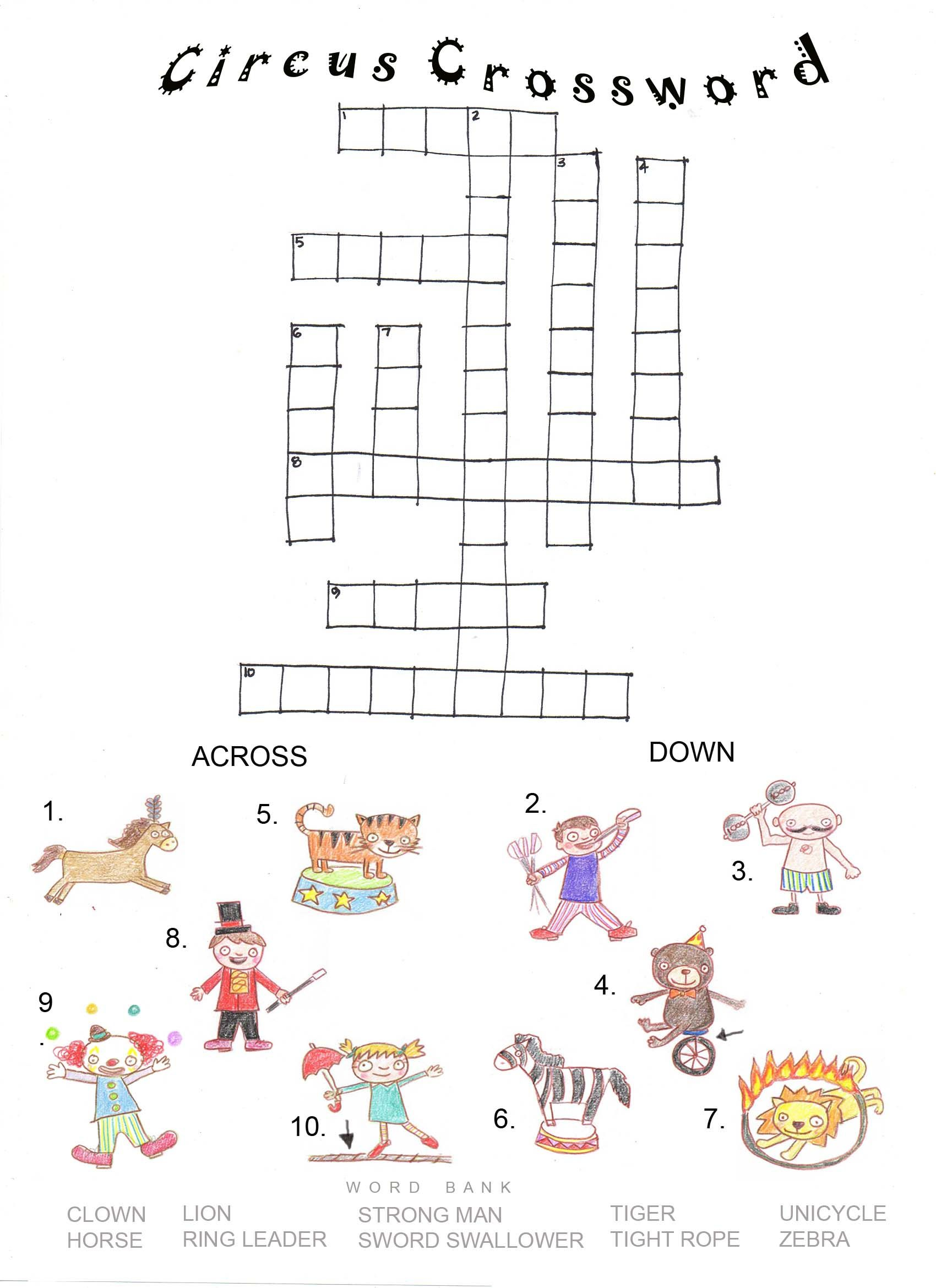 Big Top Circus Worksheet