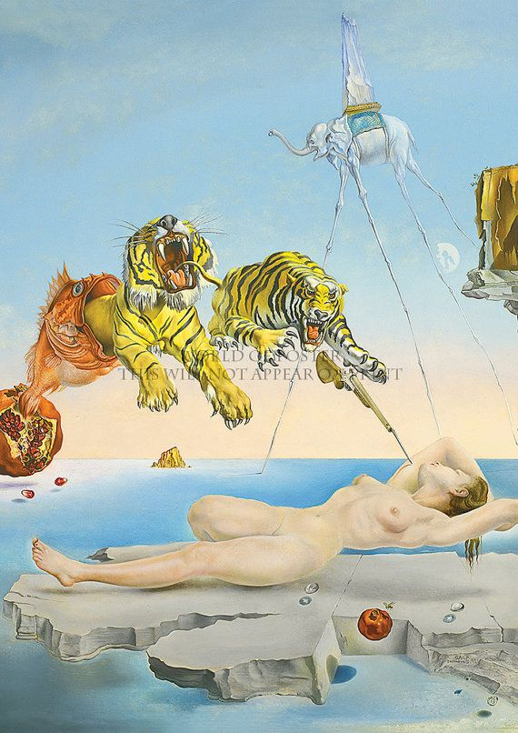 Salvador Dali - Dream caused by a flight of a bee GIANT High Quality Art Print Poster, Various sizes from A3, Art Reproductions Wall decor