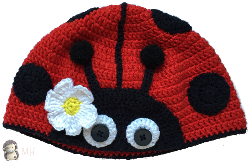 Gorro mariquita a crochet | crochet | Pinterest | Mariquita, Gorros ...
