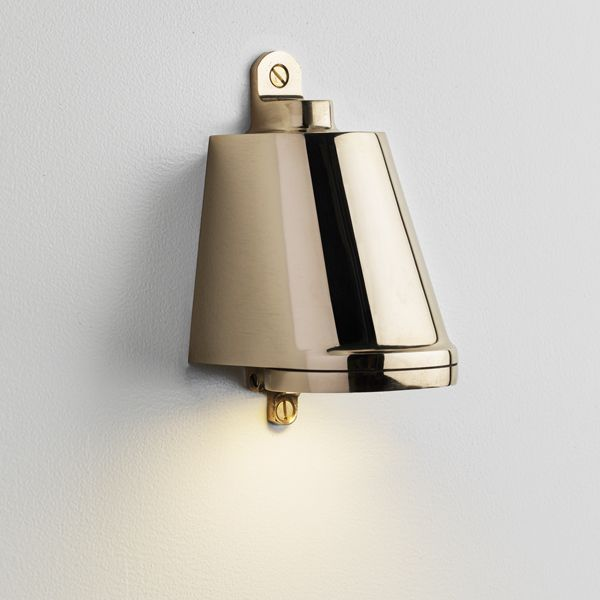 Nautic Polished Brass Wall Lights Plates On Wall