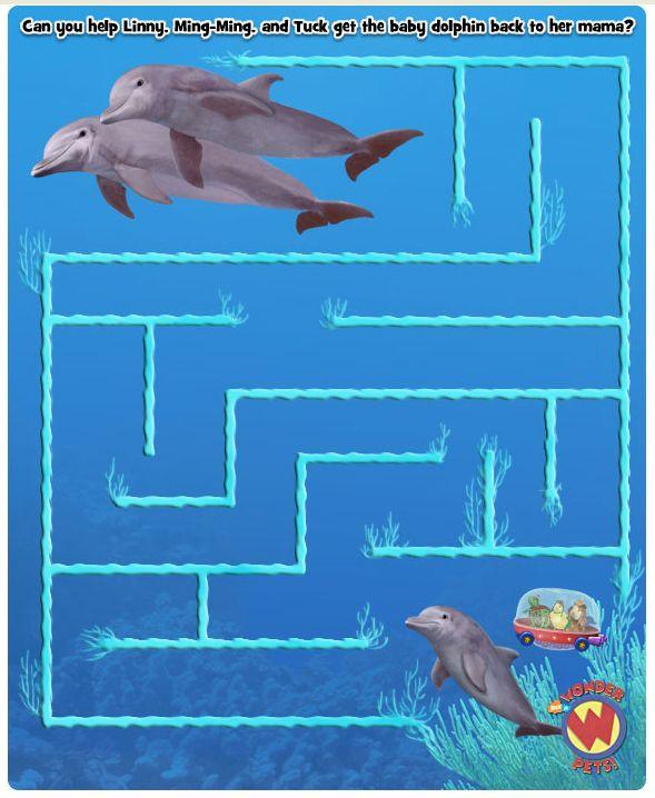 Wonder Pets Dolphin Maze Treehouse Wonder Pets Pets Dolphins