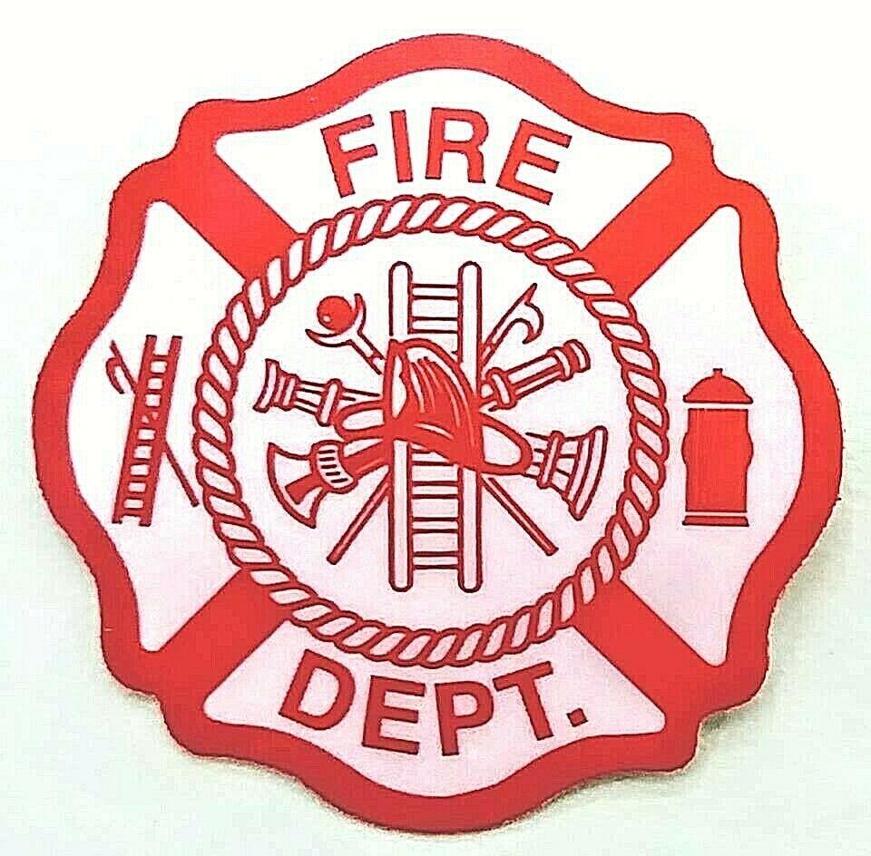 FIRE DEPARTMENT 10 pack MALTESE CROSS SHAPE Highly