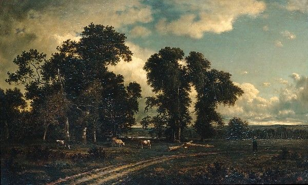 "David Johnson: ""On the Unadilla, New York"", 1884, Oil on canvas, Dimensions:23 x 37 in. (58.4 x 94 cm), The Met."