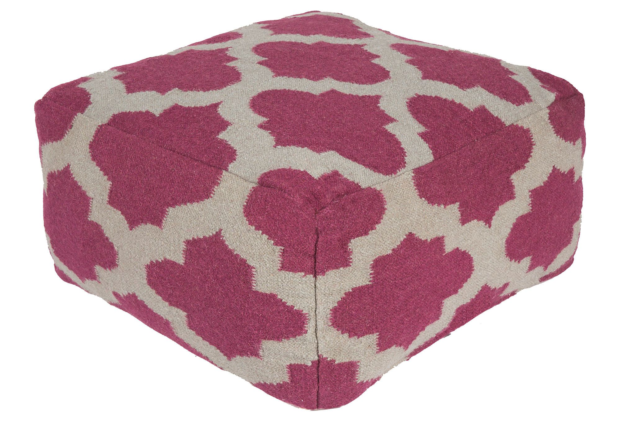 One Kings Lane - Moving Pieces - Lily Pouf, Purple/Ivory   Dream ...
