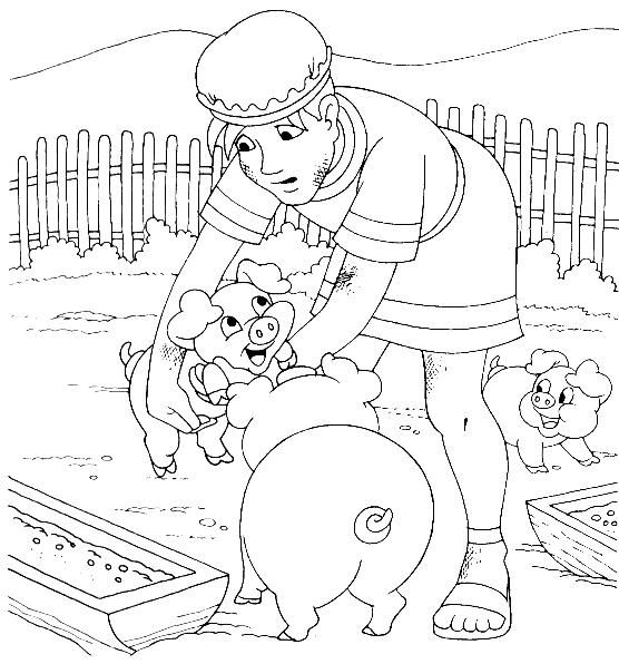 The Prodigal Son With The Pigs Luke 15 Sunday School Coloring