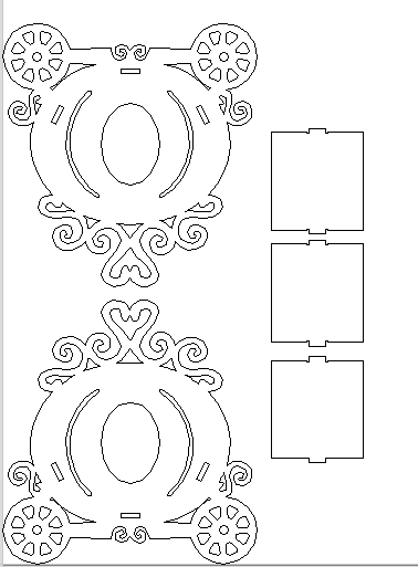 Corte por láser de bricolaje de madera adornos para Scrapbooking Cardmaking Craft Molde