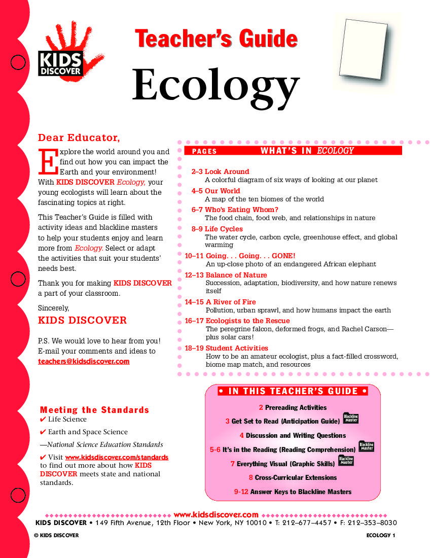 worksheet Ecology Worksheets For High School ecology kids discover you have to register free with this lesson plan for is loaded activities and assessments that will help teach about how t