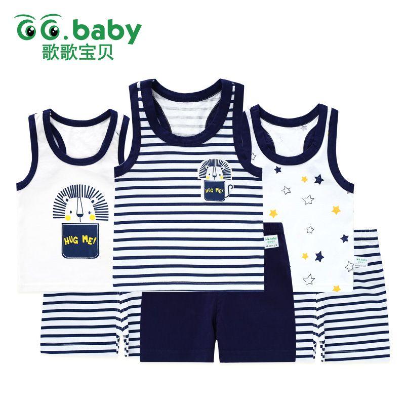 YOUNGER TREE Newborn Infant Baby Boys Girls Summer Short Set Linen Tank Top Pants Set Spring Clothes