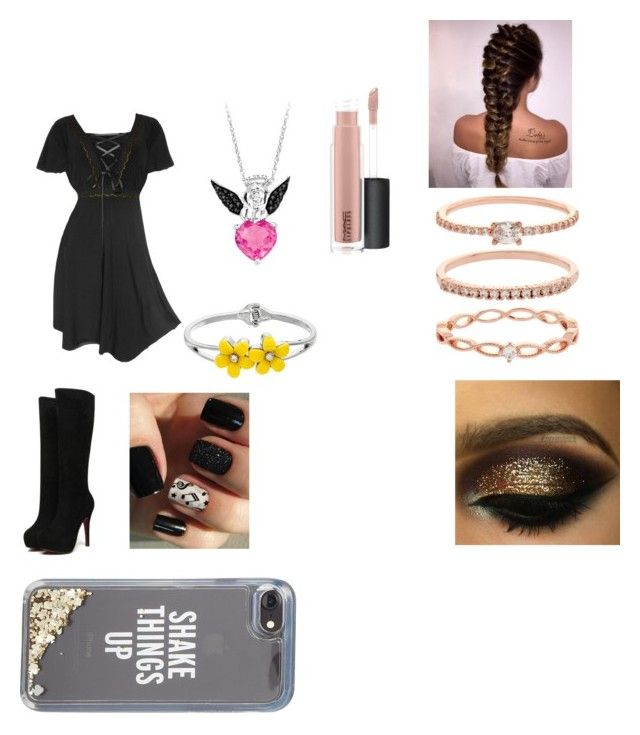 """Clarissa Goes on a Double Date With Andrew and Her Cousin and James"" by rosemarie-lestrange on Polyvore featuring Accessorize, MAC Cosmetics and Kate Spade"