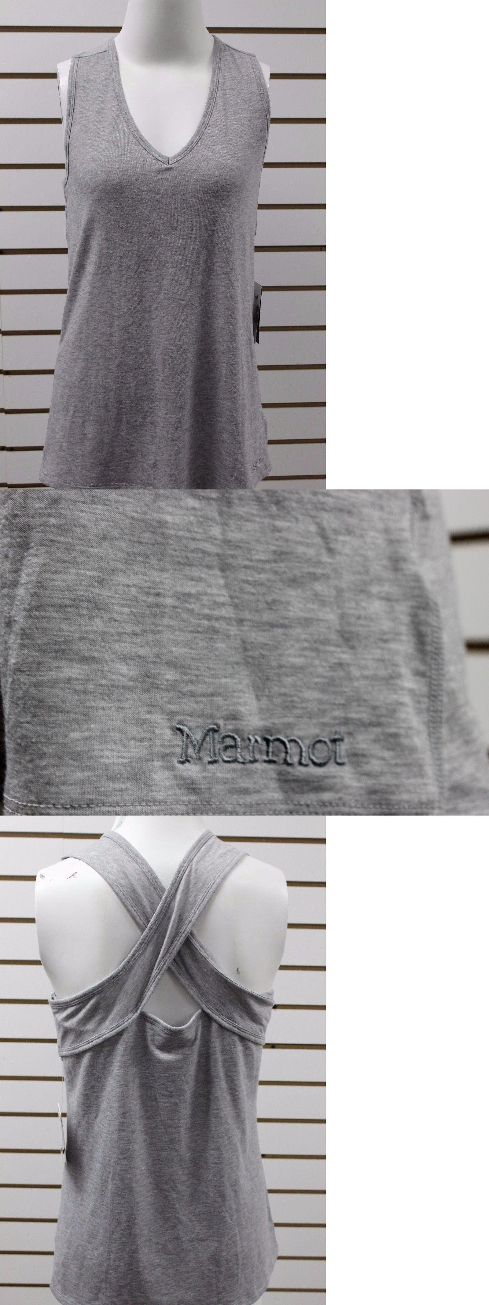 Shirts 59333: Women S Marmot Nila Sleeveless Tank Steel Heather 67620 Brand  New With Tag