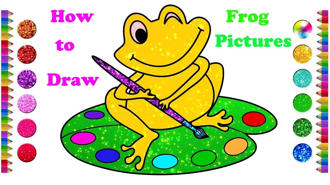How to Draw a Frog Pictures   Frog picture drawing and ...