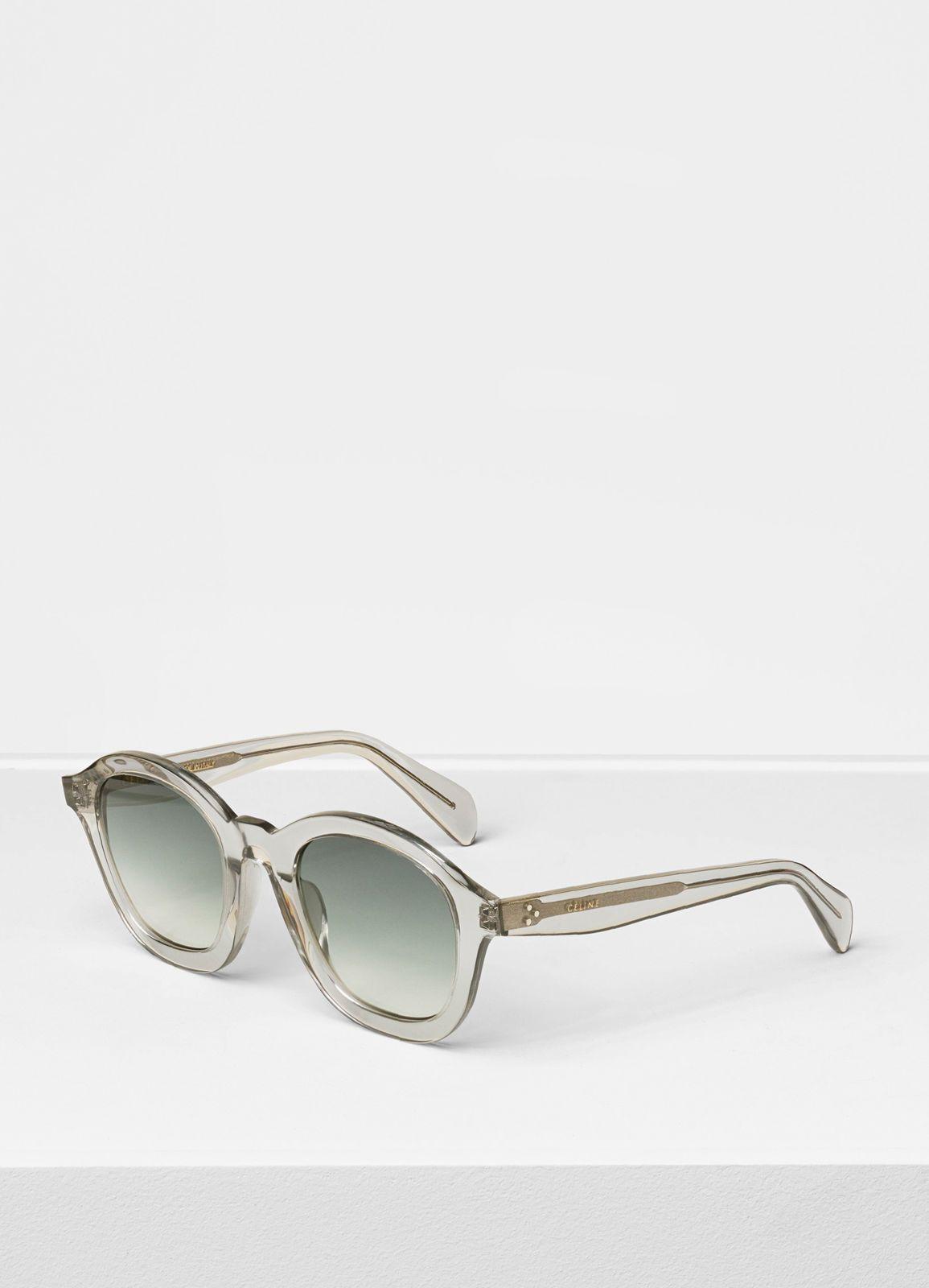74f60b71805c Céline - Light grey round sunglasses in acetate