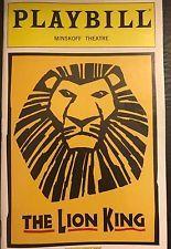 THE LION KING Broadway Playbill Mar 2008 - Wallace Smith, Blake Hammond