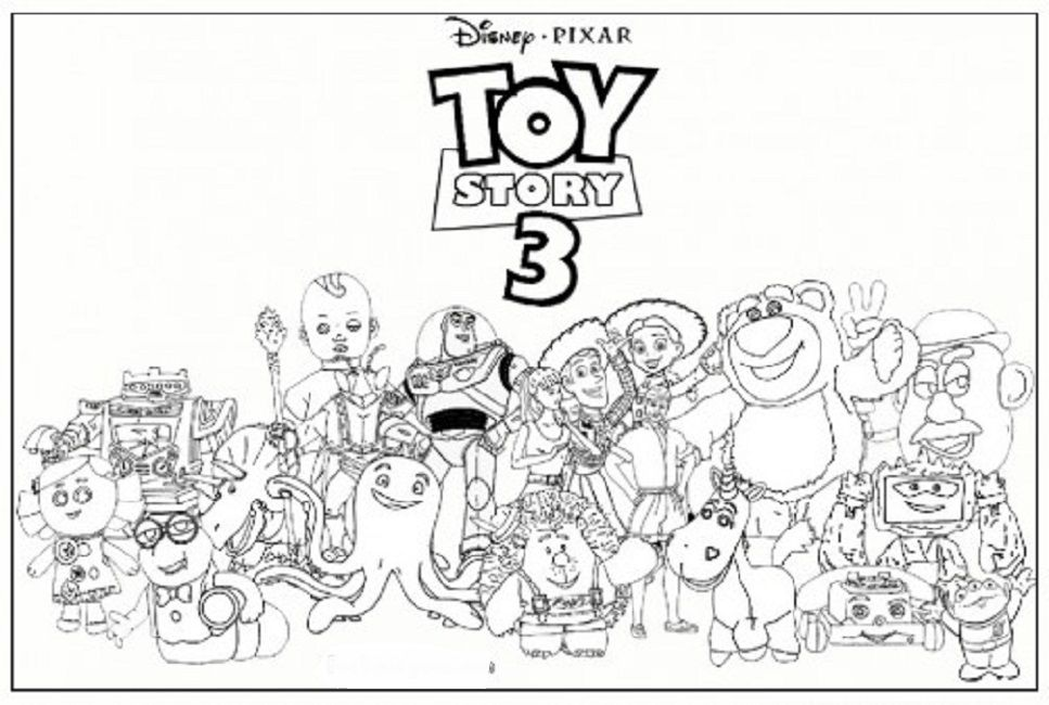toy story 3 coloring pages online | Toy story coloring ...