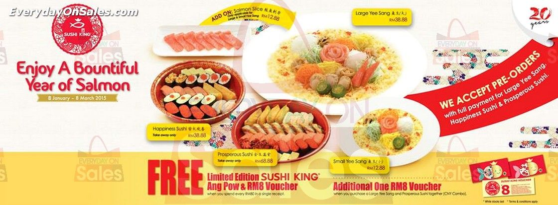 20 Jan 2015 Sushi King 20th Anniversary Promotion Freebies