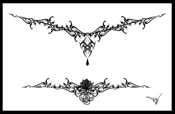 Gothic Lace Tattoo Splash 005 by Quicksilverfury o