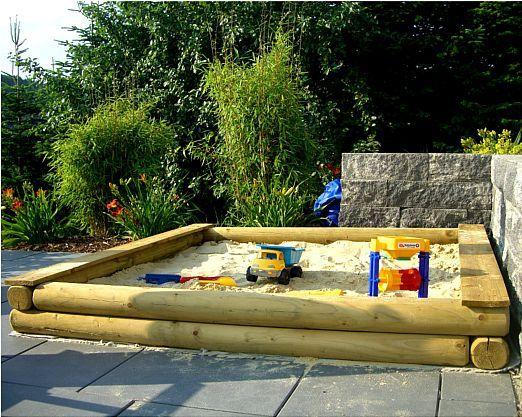 Elegant Sandkasten nach Ma cm Genau nach Wunsch Rundholz cm Holz Sandkiste kaufen bei Hood
