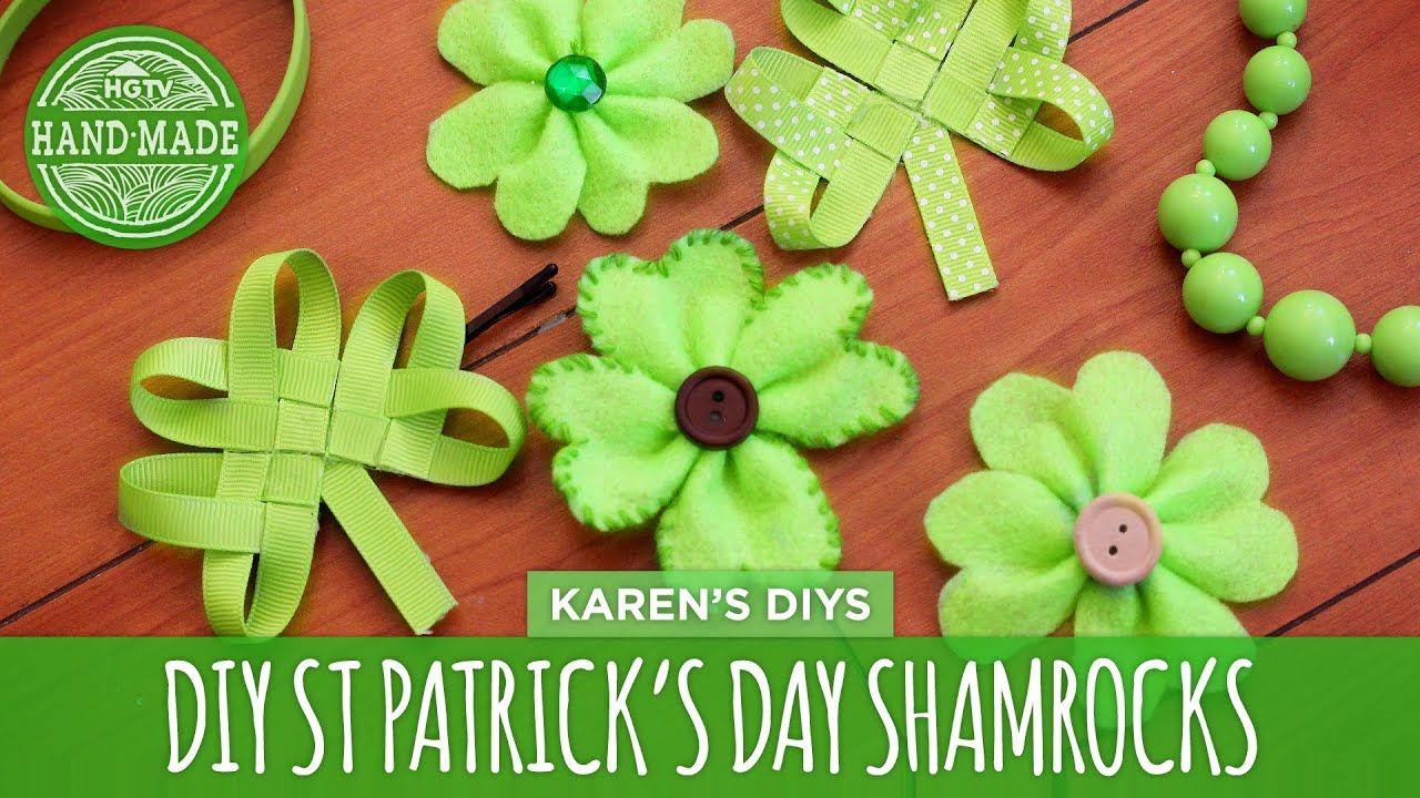 Diy Easy St Patrick S Day Shamrocks Hgtv Handmade Youtube