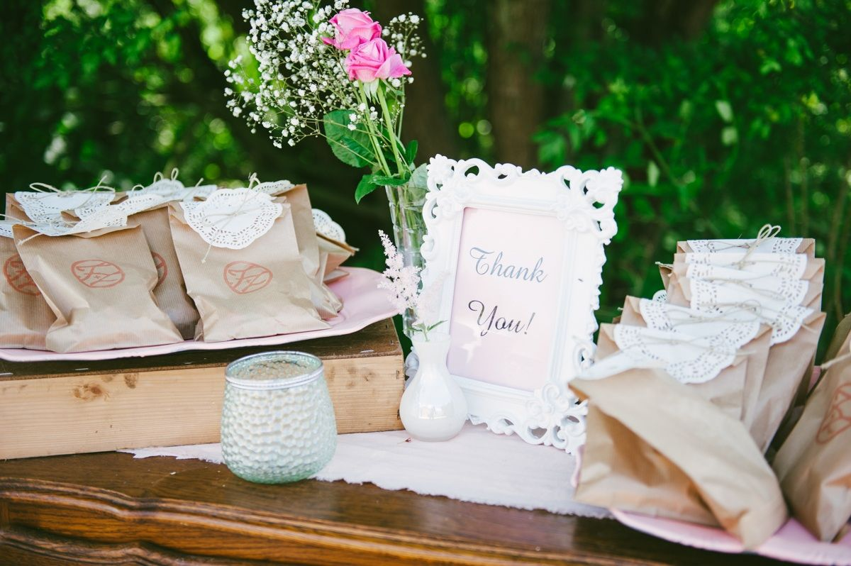 DIY. Bagged vintage wedding favors with stamp. photo: www ...