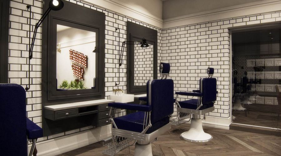 THE BARBER SHOP - A modern interior design marvel. The use of ...