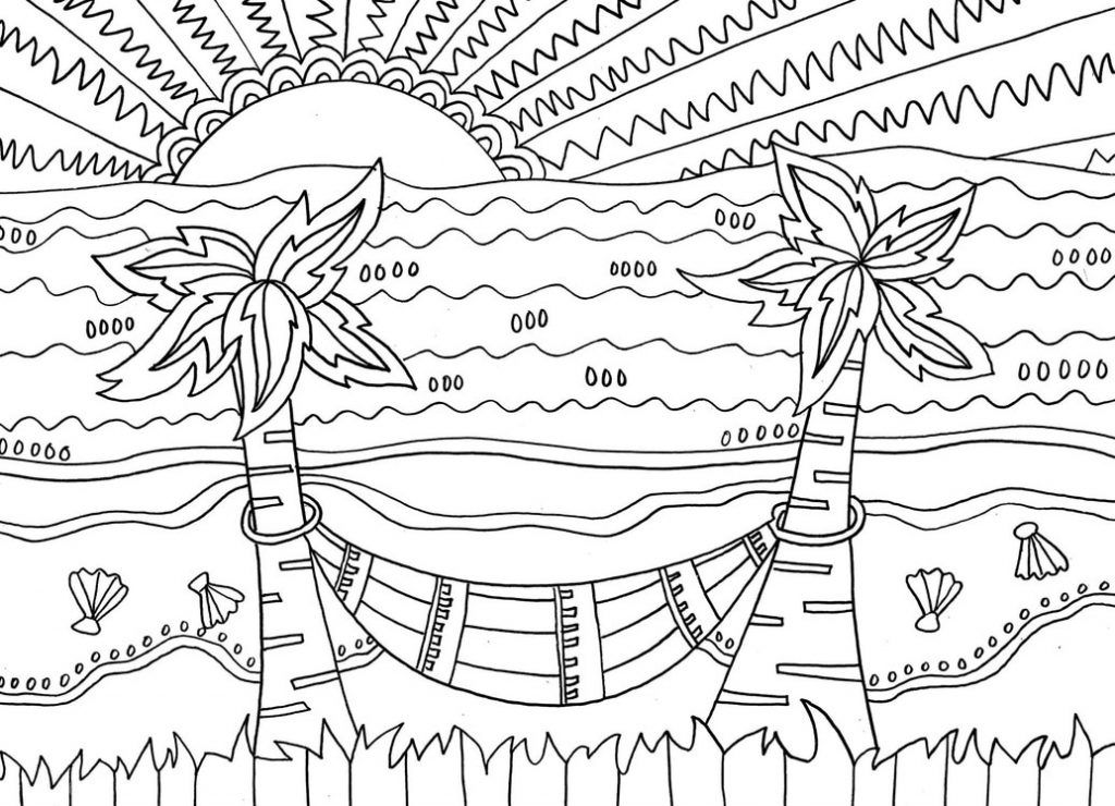 Beach Coloring Pages Beach Scenes & Activities Summer