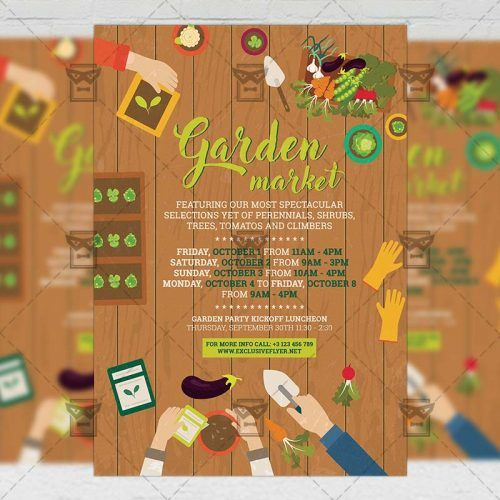 Community A5 Flyer Template - Garden Market Flyer template and
