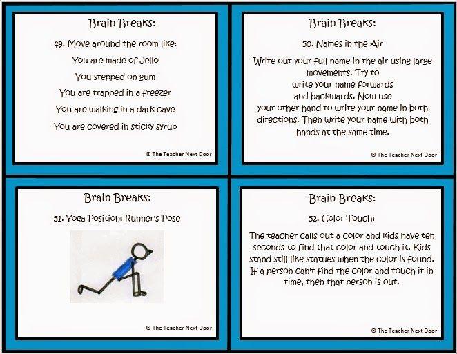 4 ejemplos de descansos cerebrales | Educación: Descansos Cerebrales ...