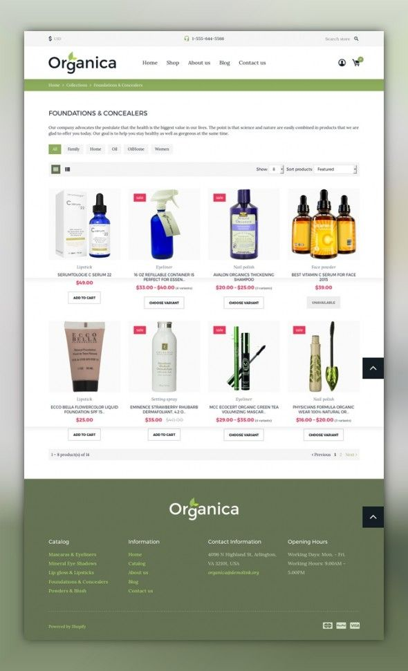 Cosmetics Store Responsive Shopify Theme Template Responsive Web - Shopify store templates