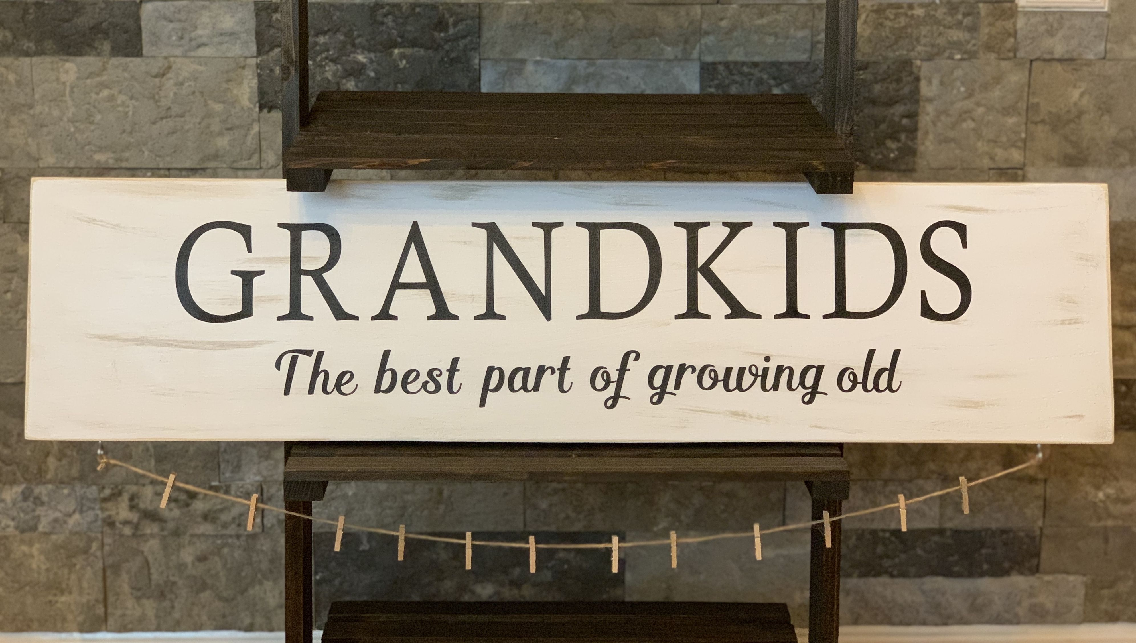 This Root 937 exclusive Grandkids, the best part of growing old, is the perfect sign to give to