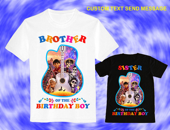 Coco Full Of Set 2 Iron On Transfer Boy Birthday Shirt DIY Girl Sister Brother