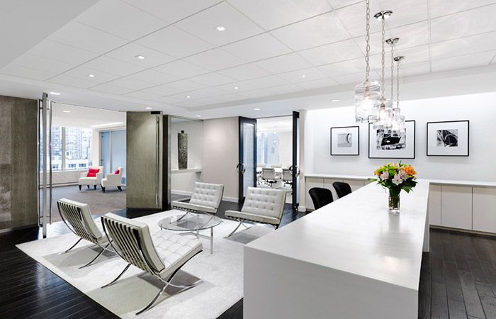 Office tour inside avon s new york city executive offices for Interior design office new york