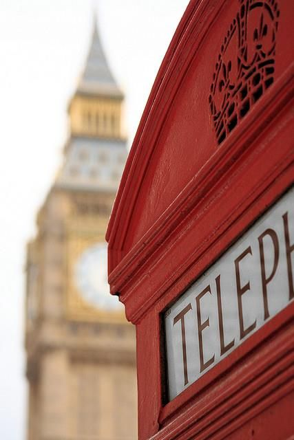 Red phone box and Big Ben