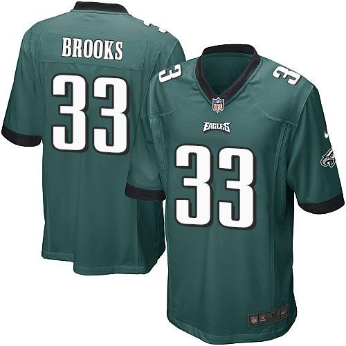 youth nike philadelphia eagles 33 ron brooks game midnight green team color nfl jersey