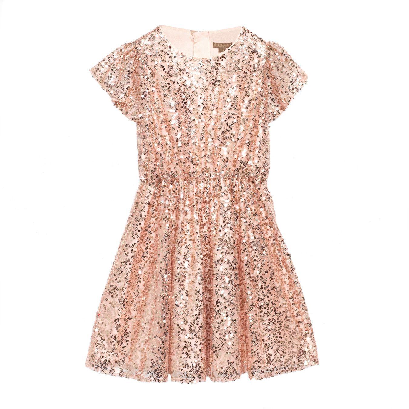 GLISTEN DRESS ROSE GOLD Für Blumenmädchen 🌷 for Flowergirls