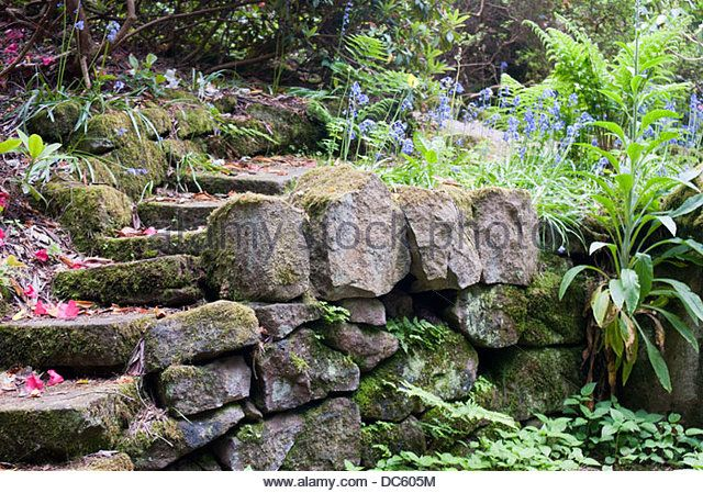 Image result for stone wall garden border