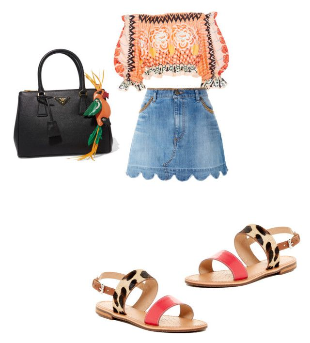 """Untitled #545"" by aayushi3912 on Polyvore featuring Temperley London, RED Valentino, Geox and Prada"