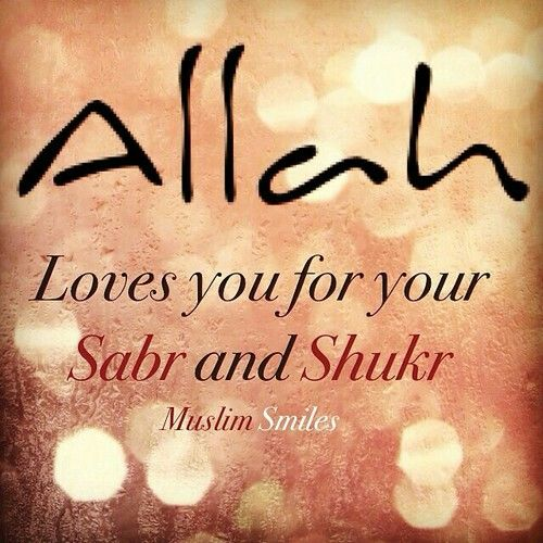 Sabr And Shukr Islamic Love Quotes Allah Quotes Islamic Quotes