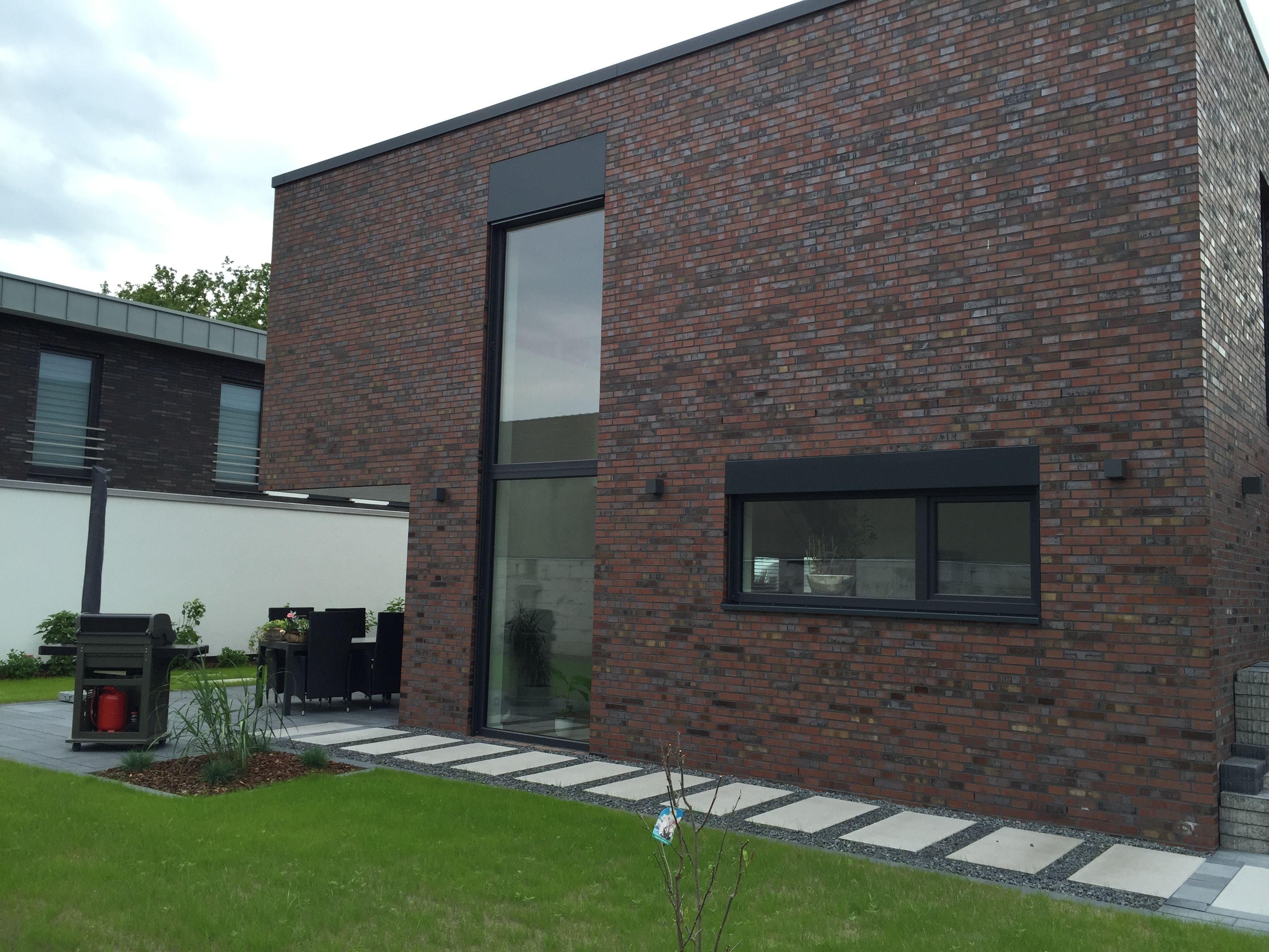 gartenansicht des kubus hauses hausbau 2015 pinterest. Black Bedroom Furniture Sets. Home Design Ideas