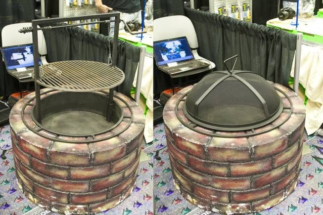 The Santa Maria Porta Fire Pit U0026 BBQ Includes A Fire Pit Bowl, Collapsible  Grill And Cover. It Breaks Apart And Folds Flat For Easy Storage.
