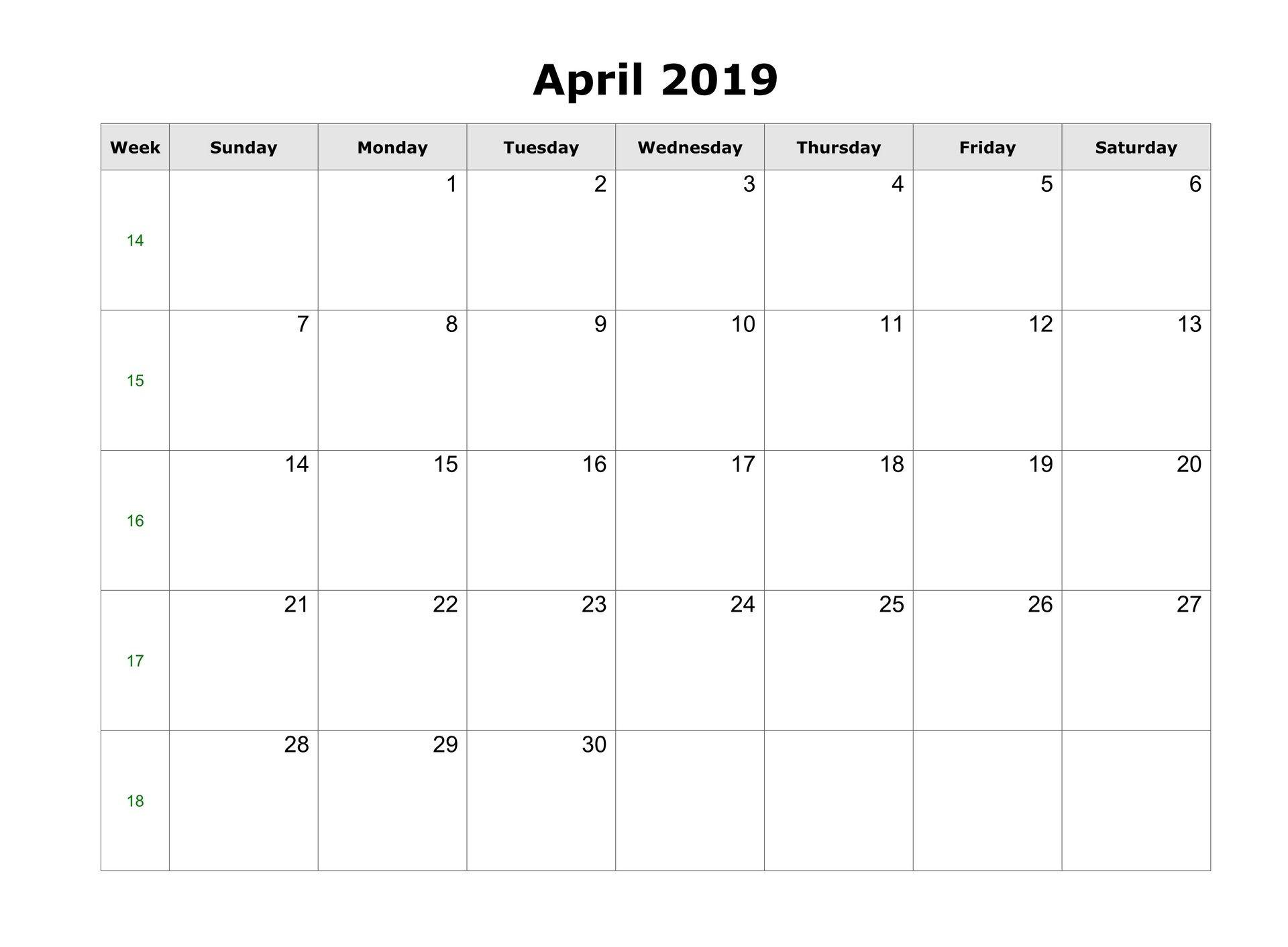 April 2019 Blank Calendar Tumblr Blank Calendar Blank Calendar