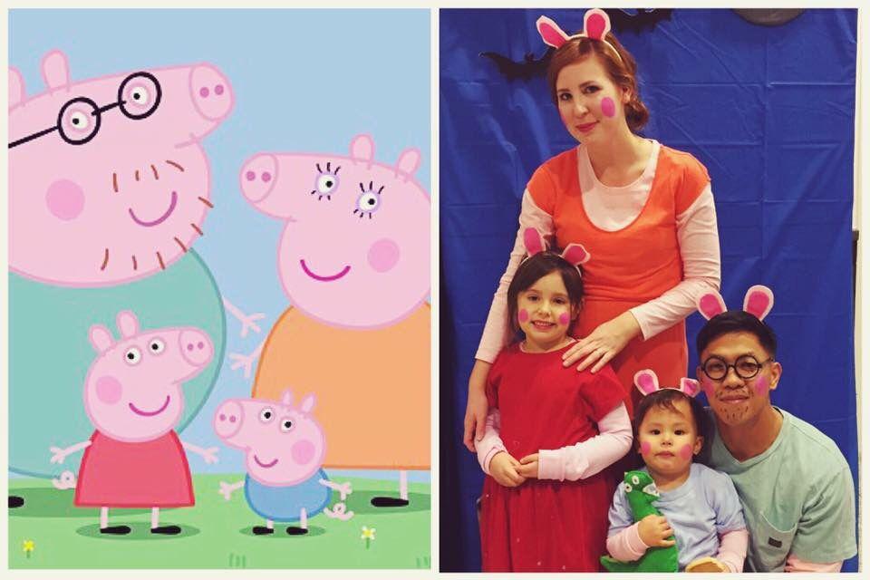 06ee3cc7eb2 Peppa pig family costumes DIY