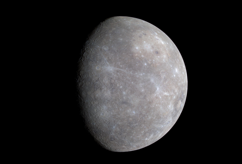 Mercury as seen by NASA's MESSENGER spacecraft. Color ...