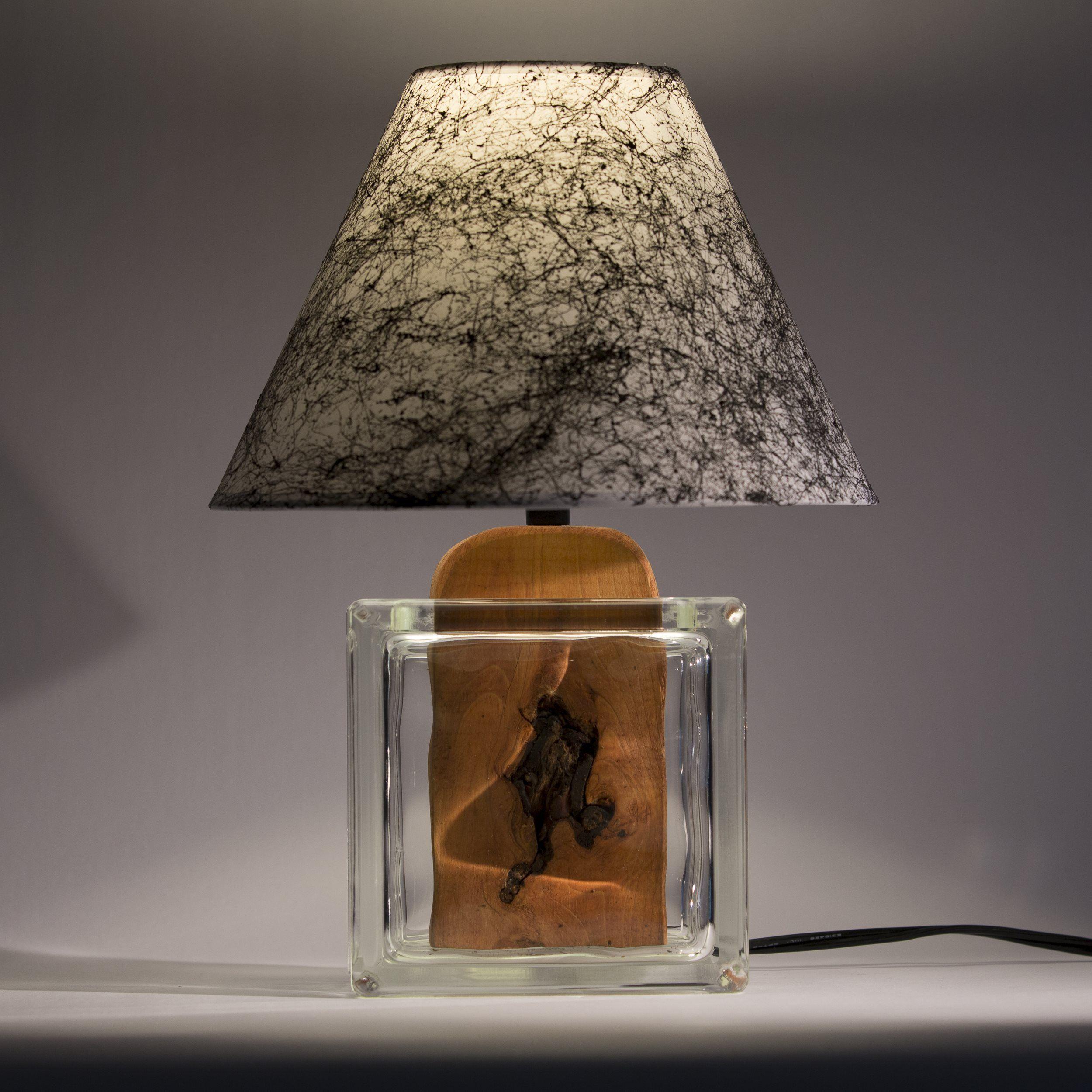 Glass block lamp