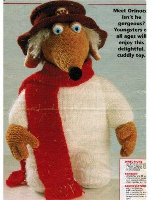 The Wombles Orinoco character toy [577] - £1.75 : Patterns Galore, Vintage Knitting Patterns