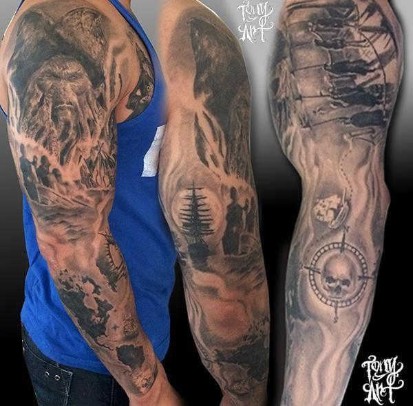 Pirates Caribbean Tattoo Pirates Of The Caribbean Tattoo Davy Jones