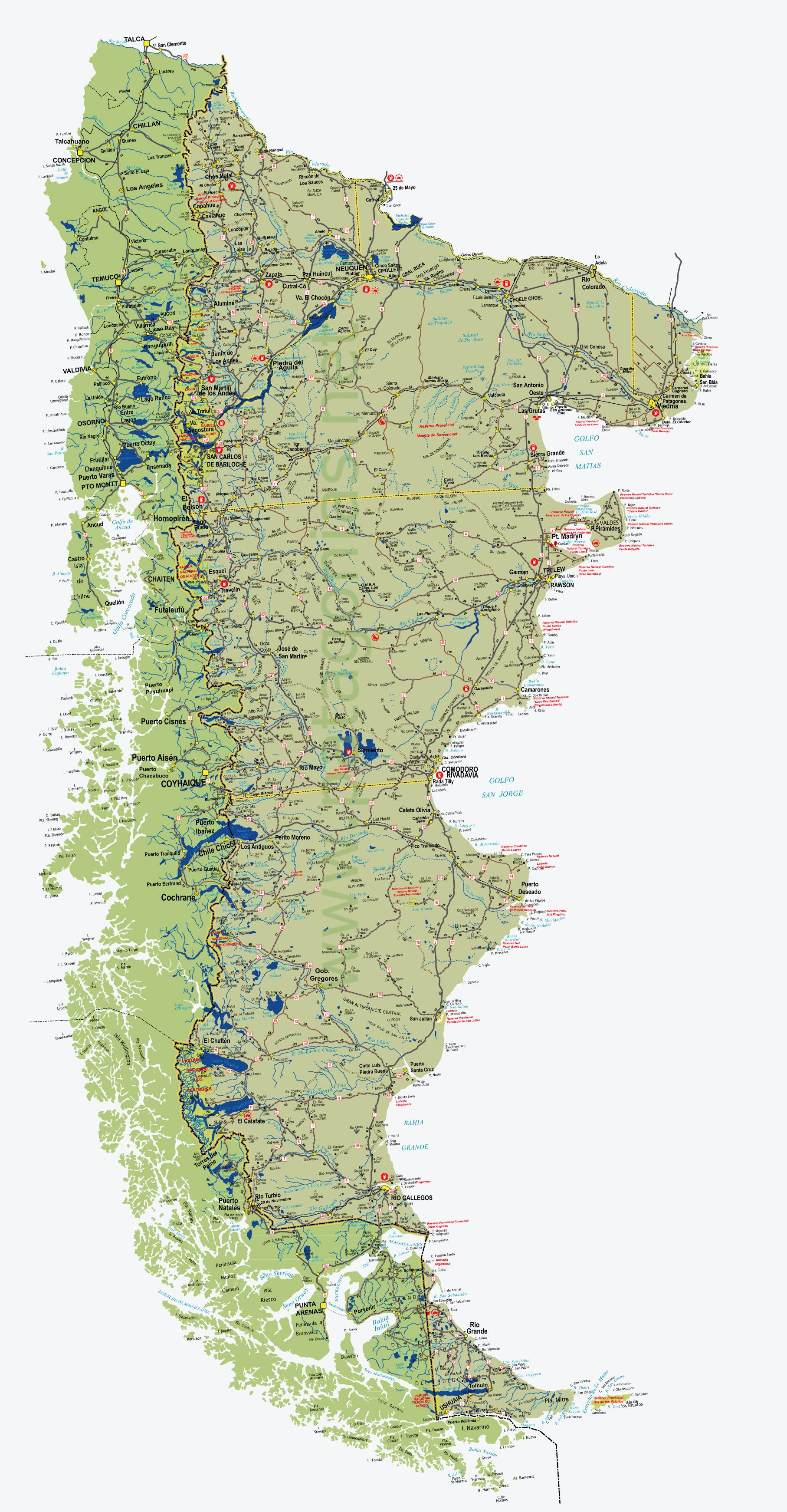 Map Of Patagonia My Blog