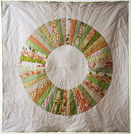 Colorful Crafting with Jen: Wedding WheelQuilt - The Purl Bee - Knitting Crochet Sewing Embroidery Crafts Patterns and Ideas!