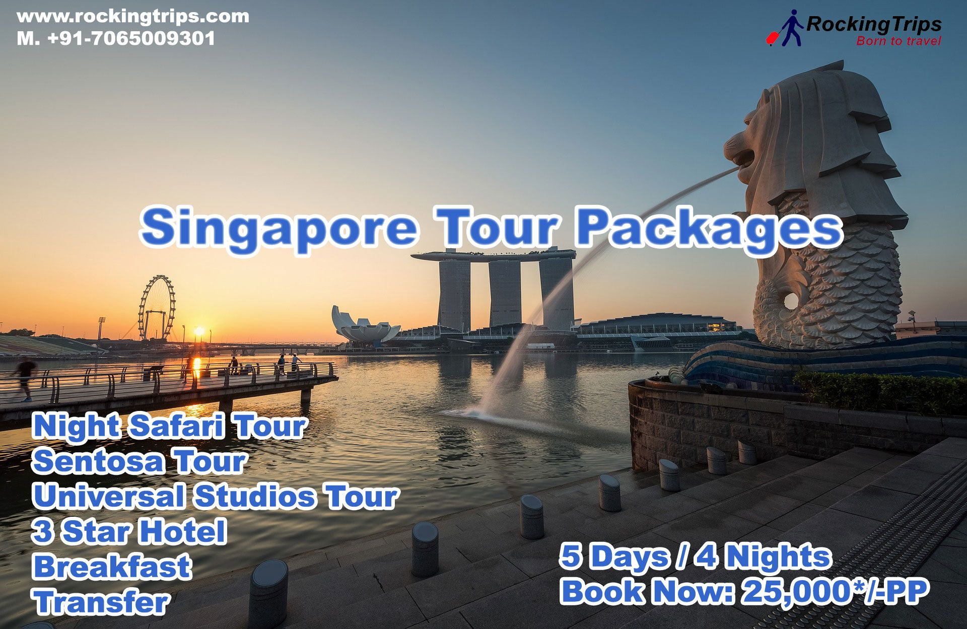 Singapore Tour Packages 5 Days 4 Nights Book Now 25 000 Pp