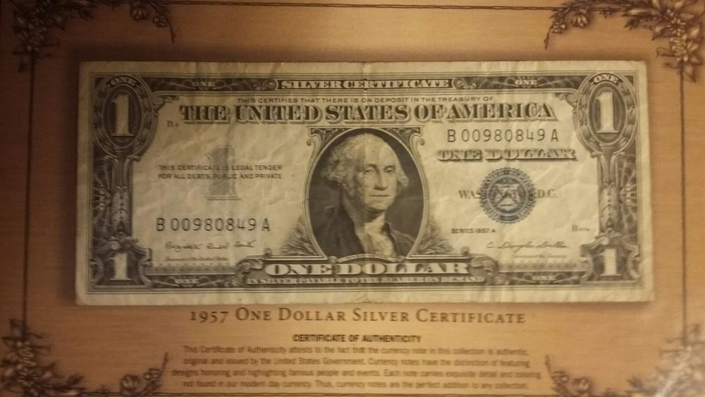 Series 1957 A USA One Dollar $ Silver Certificate Nice CU NOTES FR ...